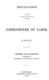 Annual Report of the Commissioner of Labor: Volume 10, Issue 2