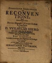Dissertatio Inauguralis De Reconventione