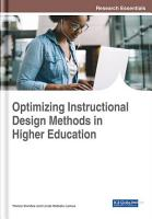 Optimizing Instructional Design Methods in Higher Education PDF