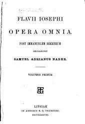 Flavii Iosephi Opera omnia: Τόμος 1
