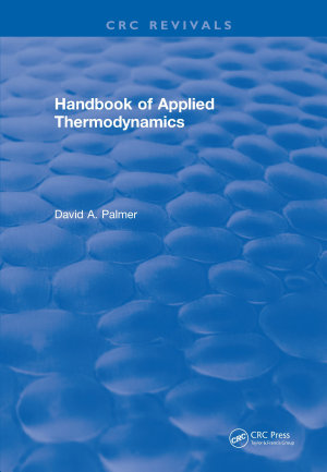 CRC Handbook of Applied Thermodynamics PDF