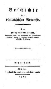 Geschichte der Osterreichischen Monarchie