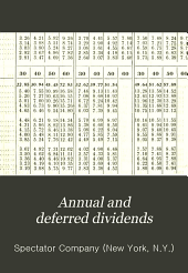 Annual and Deferred Dividends
