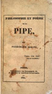 Philosophie et poésie de la pipe