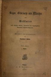 Sagen, Gebräuche und Märchen aus Westfalen: und einigen andern, besonders den angrenzenden Gegenden Norddeutschlands, Band 1