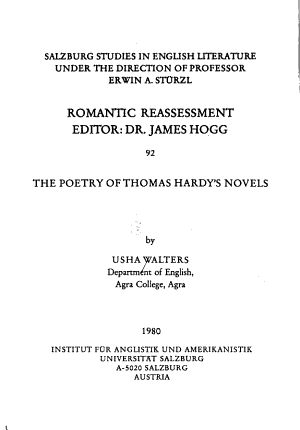 The Poetry of Thomas Hardy s Novels PDF