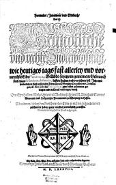 Formular-, Jurament- und Eidtbuch