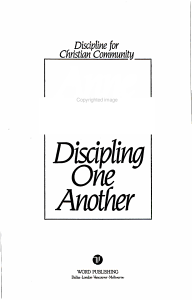 Discipling One Another