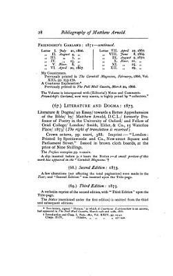 The Bibliography of Matthew Arnold PDF