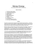 Money Energy: How to Attract Money and Create the Life You Want