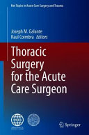 Thoracic Surgery for the Acute Care Surgeon PDF