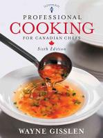 Professional Cooking for Canadian Chefs PDF