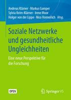 Soziale Netzwerke und gesundheitliche Ungleichheiten PDF