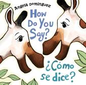 How Do You Say? / ¿Cómo Se Dice?