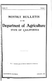 Bulletin - State of California, Department of Agriculture: Volumes 11-12