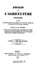 Annales de l'agriculture francoise. Red. par ... Tessier: Volume3;Volume17