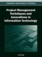 Project Management Techniques and Innovations in Information Technology PDF