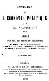 Annuaire de l'économie politique et de la statistique: Volume18