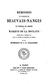 Mémoires ¬du ¬Marquis ¬de ¬Beauvais-¬Nangis