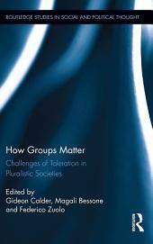 How Groups Matter: Challenges of Toleration in Pluralistic Societies