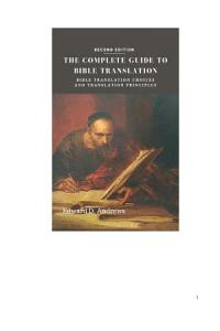 THE COMPLETE GUIDE TO BIBLE TRANSLATION PDF