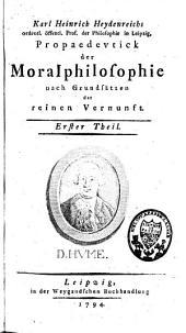 Propaedeutik der Moralphilosophie