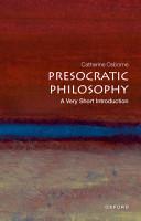 Presocratic Philosophy  A Very Short Introduction PDF