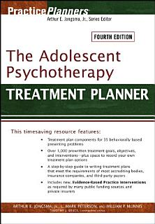 The Adolescent Psychotherapy Treatment Planner Book