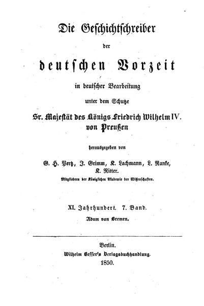 Adam S Von Bremen Hamburgische Kirchengeschichte
