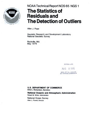 The Statistics of Residuals and the Detection of Outliers