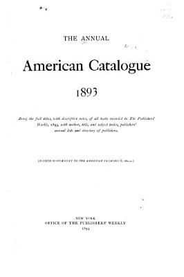 The American Catalogue Of Books