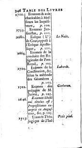 Dictionnaire des livres jansenistes, ou qui favorisent le jansénisme: Volume4