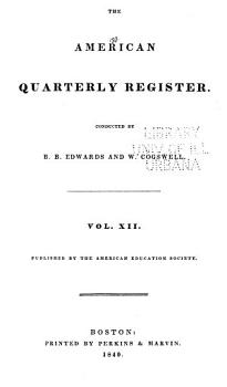 The Quarterly Register and Journal of the American Education Society PDF