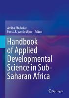 Handbook of Applied Developmental Science in Sub Saharan Africa PDF