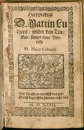 Heerpredigt D. Martin Luthers wider den Türken