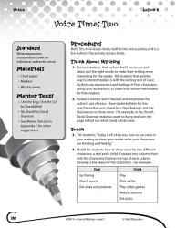 Writing Lesson Level 1 Using Your Writing Voice Book PDF