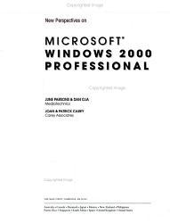 New Perspectives on Microsoft Windows 2000 Professional PDF