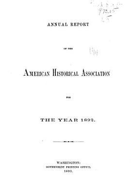 Annual Report of the American Historical Association PDF