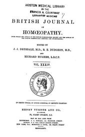 The British Journal of Homoeopathy: Volume 34
