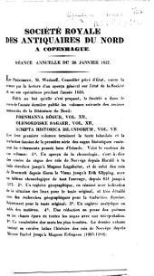 Société royale des antiquaires du Nord à Copenhague. Séance annuelle du 26 janvier 1837