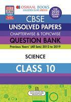 Oswaal CBSE Unsolved Papers Chapterwise   Topicwise Class 10 Science  For March 2020 Exam  PDF