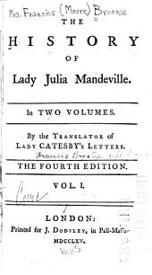 The History of Lady Julia Mandeville: Volume 1