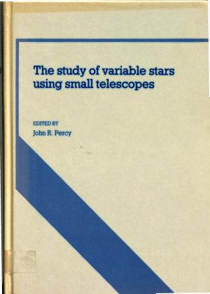 The Study of Variable Stars Using Small Telescopes PDF