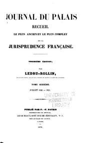 Journal du palais: Volume16