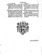 Opera Varia: Paradoxa Hydrostatica Novis Experimentis (maximam partem Physicis ac Facilibus) Evicta ...