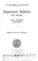 Bulletin of the U S  Department of Agriculture PDF