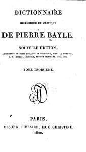 Dictionnaire historique et critique: Volume3