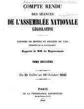Compte rendu des séances: ... Exposés de motifs et projets de lois présentés par le gouvernement, Volume2