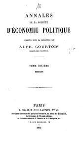 Annales de la Société d'Économie Politique: Volumes10à11