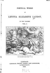 The poetical works of Letitia Elizabeth Landon: Volume 1